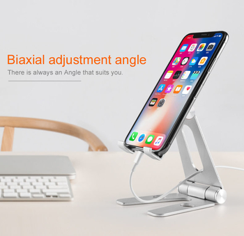 COMER aluminum alloy portable stand  for mobile phone/ tablet desktop holder cell phone tabletop display stands