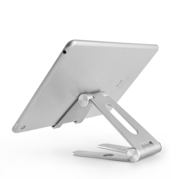 COMER Deluxe desktop tablet support portable aluminum flexible adjustable foldable tablet mobile cell phone stand holder