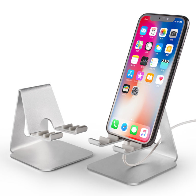 COMER Universal product super quality adjustable metal aluminum alloy lazy desktop office mobile phone stand holder