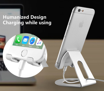 COMER Aluminum metal cradle universal OME product customizable logo mobile phone holder for cell phones desktop - Comerbuy.com