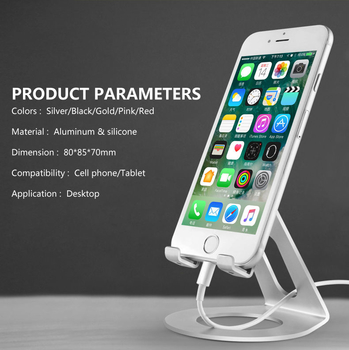 COMER Aluminum metal cradle universal OME product customizable logo mobile phone holder for cell phones desktop